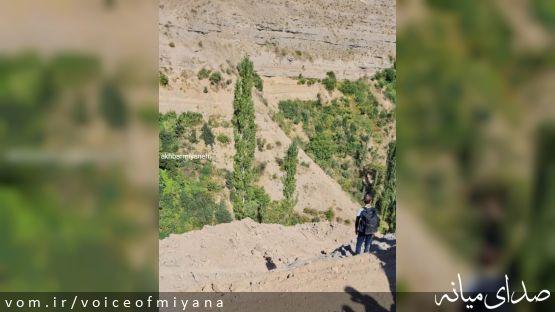 تخریب و راهسازی در دره بکر و زیبای اوروان روستای بالسین