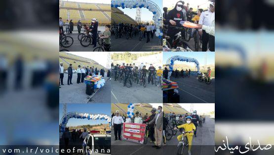 مسابقه دوچرخه سواری بمناسبت بزرگداشت هفته نیروی انتظامی در میانه